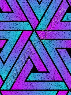 Grunge Triangle Geometric - Cyan Purple