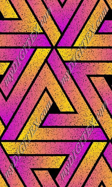 Grunge Triangle Geometric - Magenta Yellow