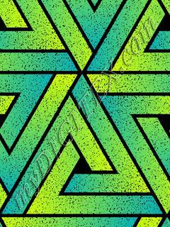 Grunge Triangle Geometric - Teal Lime