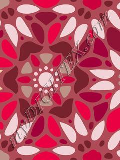 Floral Mosaic - Red