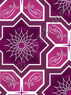 Geometric Tile - Amethyst