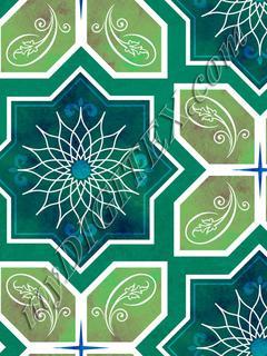 Geometric Tile - Moss