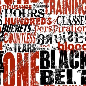 One Black Belt (on white)