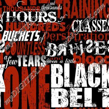 One Black Belt (on black)