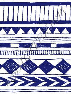 Blue doodle tribal motive