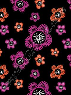 Marakesh - Pink Orange - Black