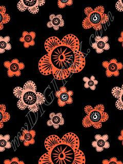 Marakesh - Orange - Black