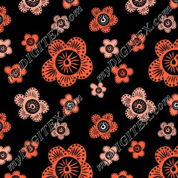 Marakesh - Orange - Black