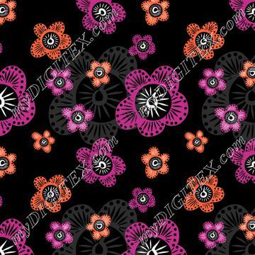 Marakesh - Pink Orange Grey - Black
