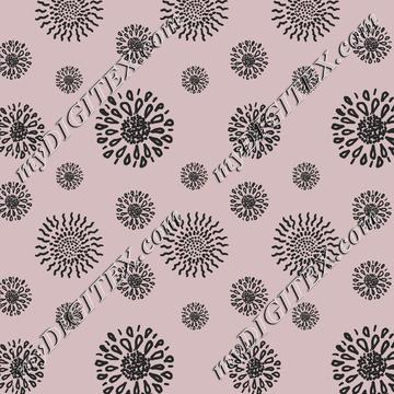Circle Floral Blooming - Pink