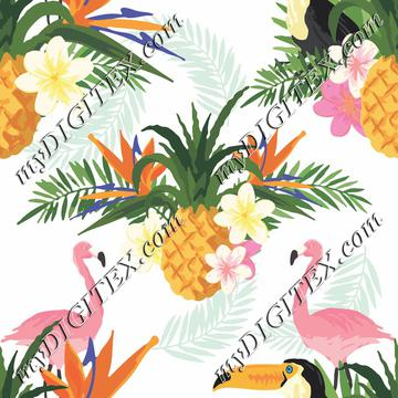 Pineapples & Flamingos