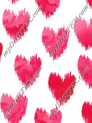 Watercolor Scribble Hearts