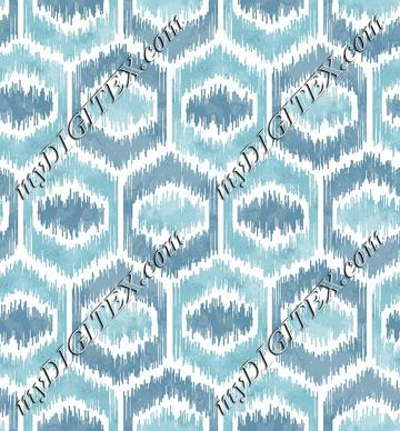 Hex Watercolor Ikat