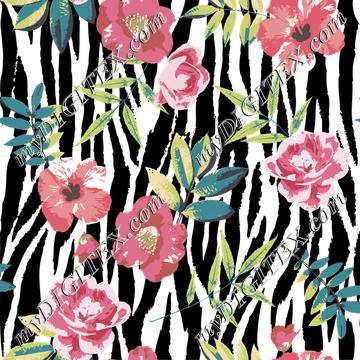 Zebra Floral