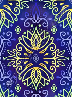 Lotus Deco - Midnight Lime