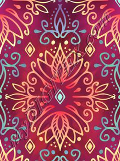 Lotus Deco - Mulberry Aqua