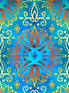 Lotus Deco - Hot Blue