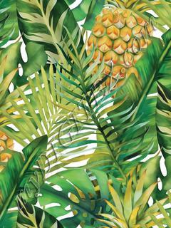 Tropical Vegetation - Pineapple - Green