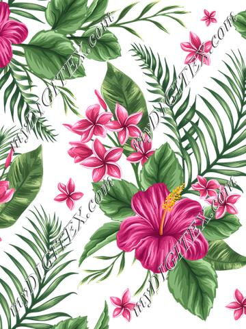 Tropical Floral (on white)