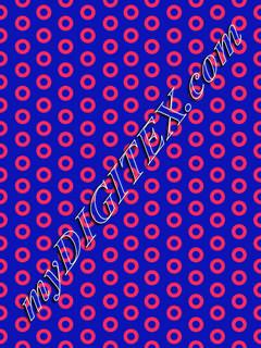 Pink and Blue Donut PATTERN 150 DPI  medium donut