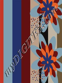 Geo-Bold stripes floral