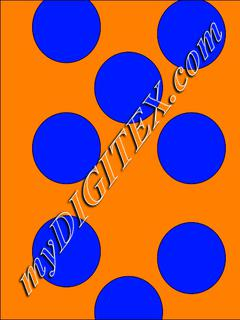 Polka dots blue:orange
