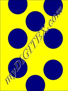 Polka dots blue:yellow