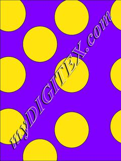 Polka dots yellow:purple