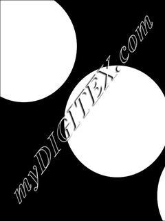 Polka dots bold white