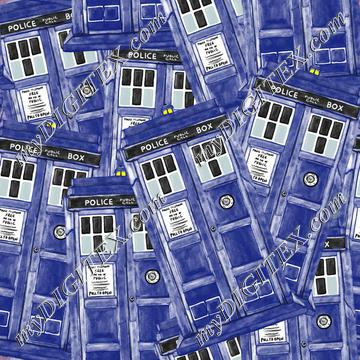 Police Box Watercolor