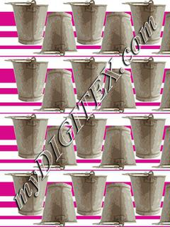 metal bucket 2 stripes 2