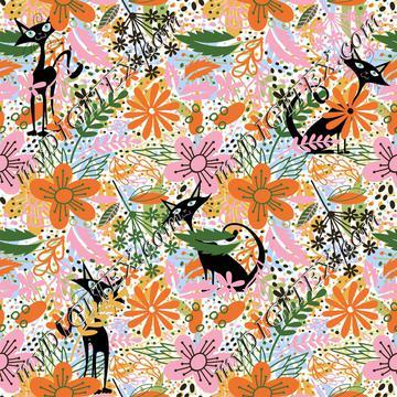 Floral Kitties