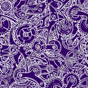 Sketchy Gears (on purple)
