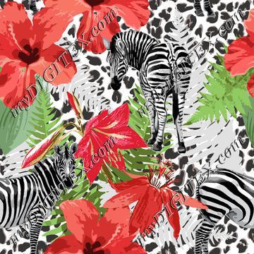 Leopard Zebra Floral