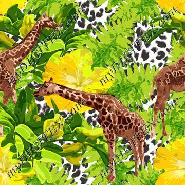 Leopard Giraffe Floral