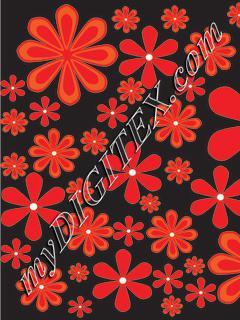 red daisy black