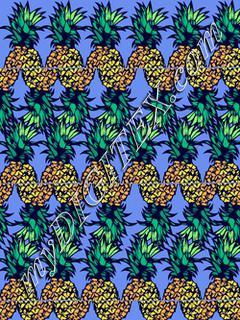 blue pineapples
