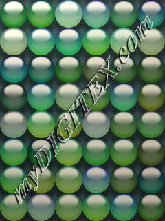 Green transparent balls
