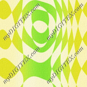 Green shapes canvas