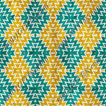 Blue yellow shapes pattern27u4