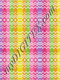 Colorful stripes and rhombus pattern