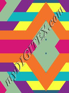Colorful rhombus and stripes