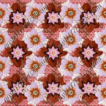 Abstract flower pattern 170417