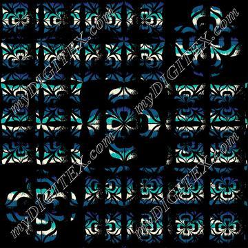 Geometric Pattern 136 blue 161220