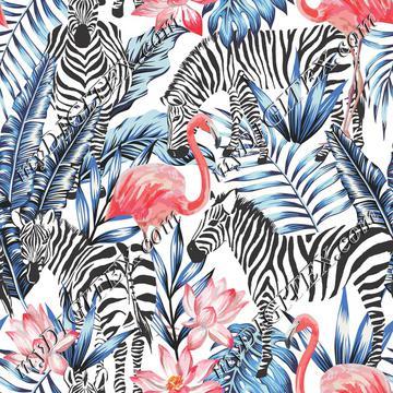 Flamingos & Zebras