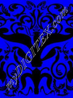 blue ornate