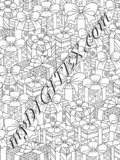 Plethora of Presents Coloring