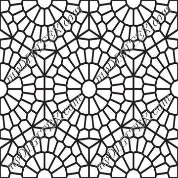 Mosaic Tiles Coloring