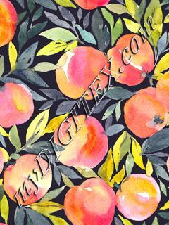 Peachy Watercolor (on black)