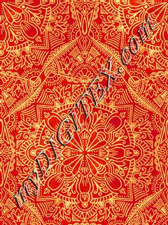 Floral Ethnic - Red